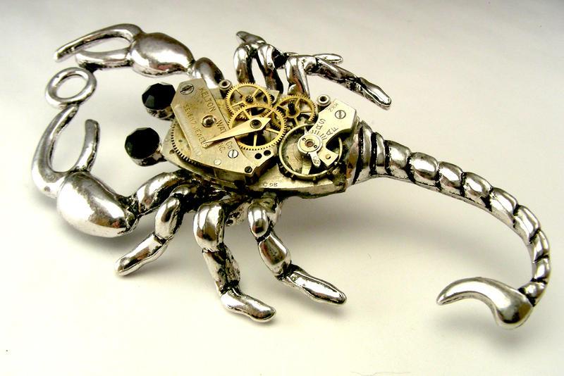 steampunk_scorpion_pendant_watch_movemen