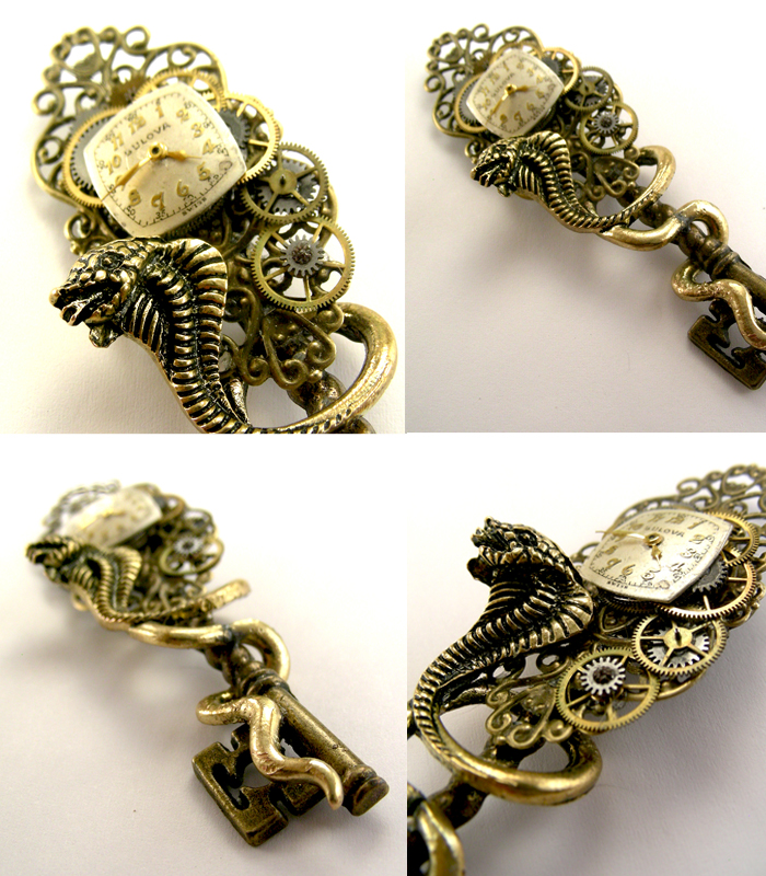 Steampunk Goth Snake/Serpent Dragon Skeleton Key by SteamSect on ...