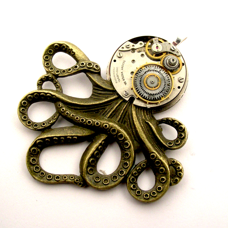 Clockwork octopus pendanteampunk influenced by steamsect on clockwork octopus pendanteampunk influenced by steamsect mozeypictures Choice Image