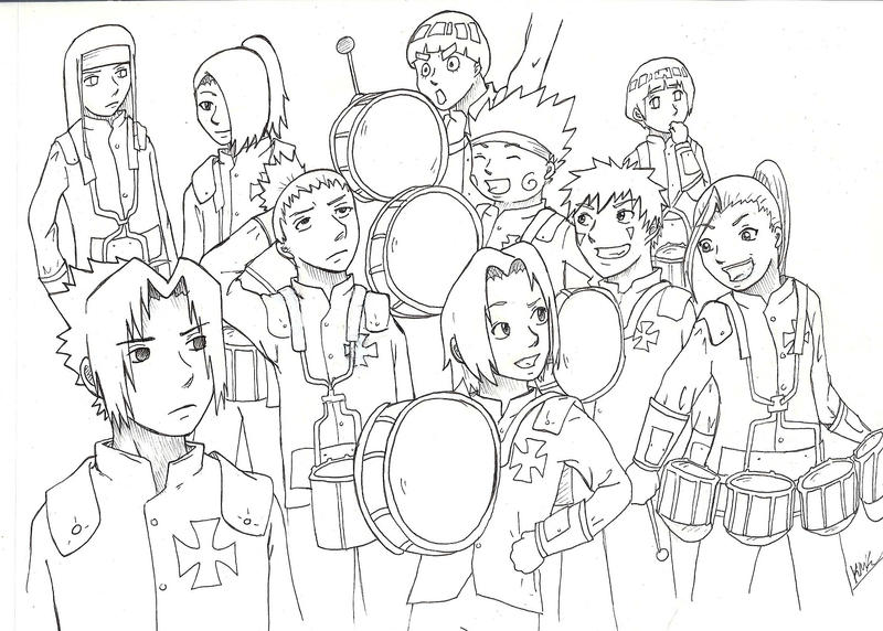 Request Naruto Drumline By MilesofCrochet
