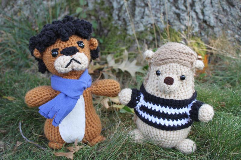 Amigurumi John and Sherlock Critters by MilesofCrochet