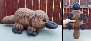 Platypus Amigurumi by MilesofCrochet