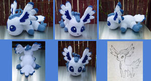 Flying Type Eeveelution Amigurumi by MilesofCrochet
