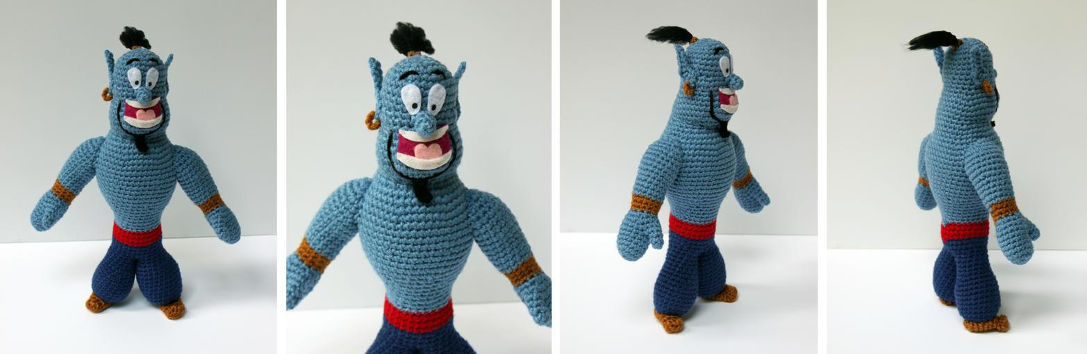Aladdin Genie Amigurumi Plush by bandotaku