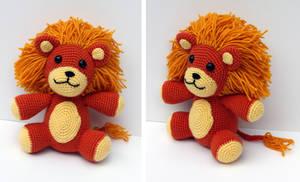 Fluffy Lion Amigurumi by MilesofCrochet
