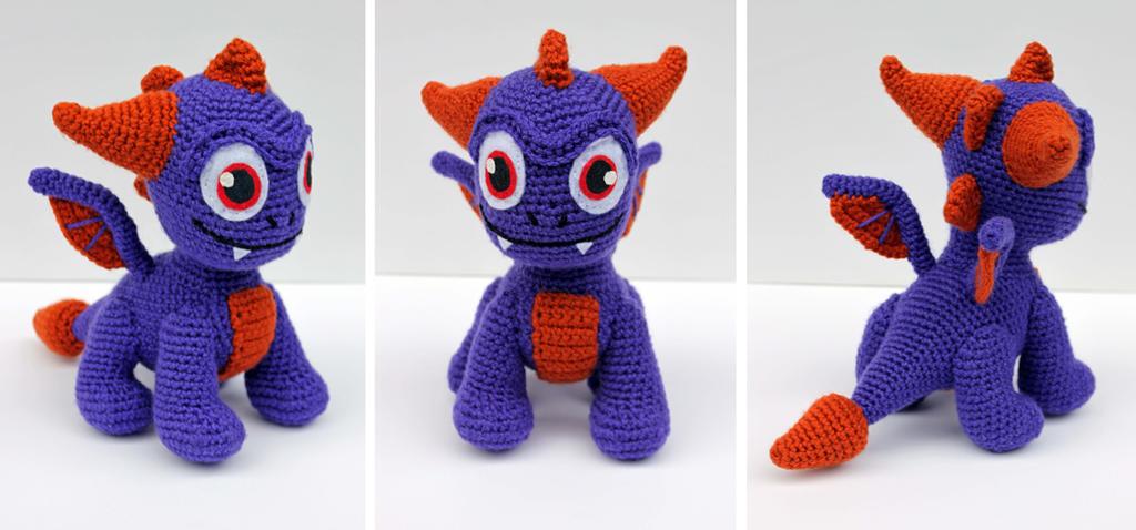 Spry (Baby Skylanders Spyro) Amigurumi by bandotaku