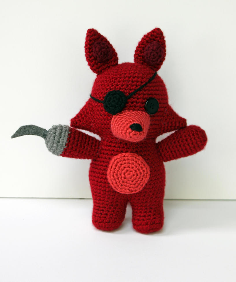 Amigurumi Foxy : Foxy-Five Nights at Freddys by MilesofCrochet on DeviantArt