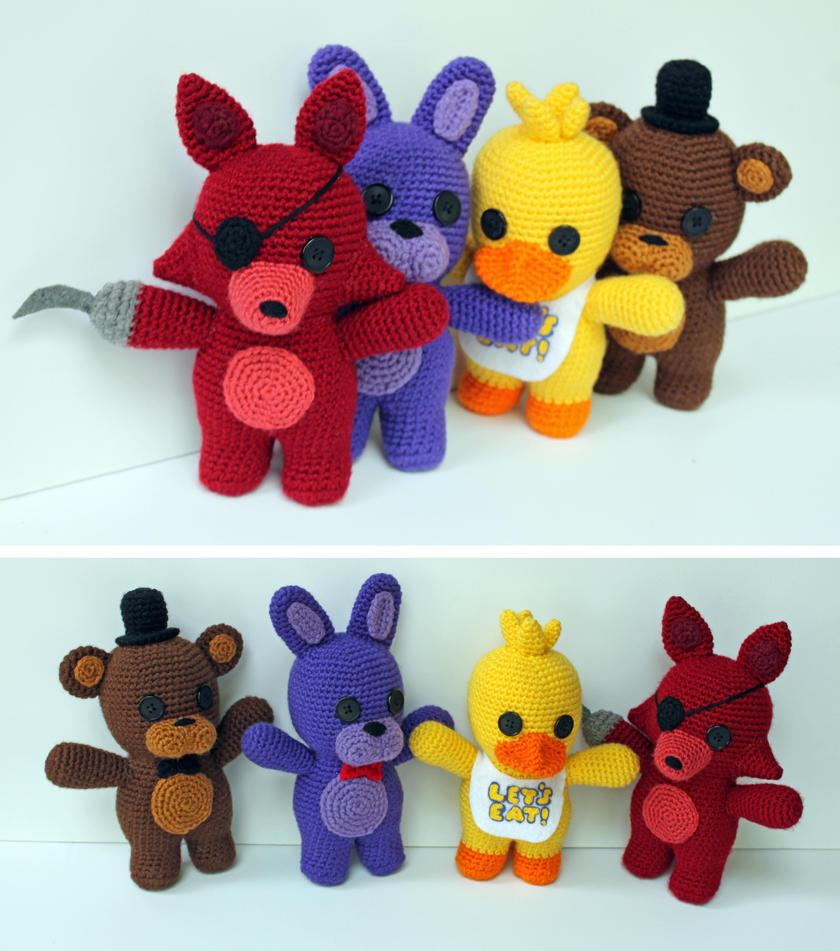 Five Nights At Freddy\'s Group by MilesofCrochet on DeviantArt