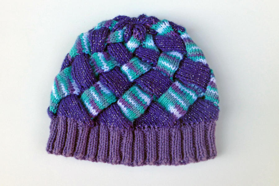 Entrelac Knitted Hat (Made by my mom) by bandotaku