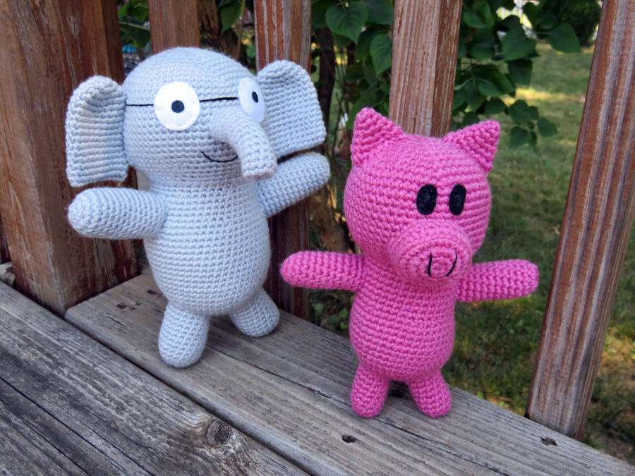 Amigurumi Elephant Pattern : Elephant and piggie free pattern by milesofcrochet on deviantart