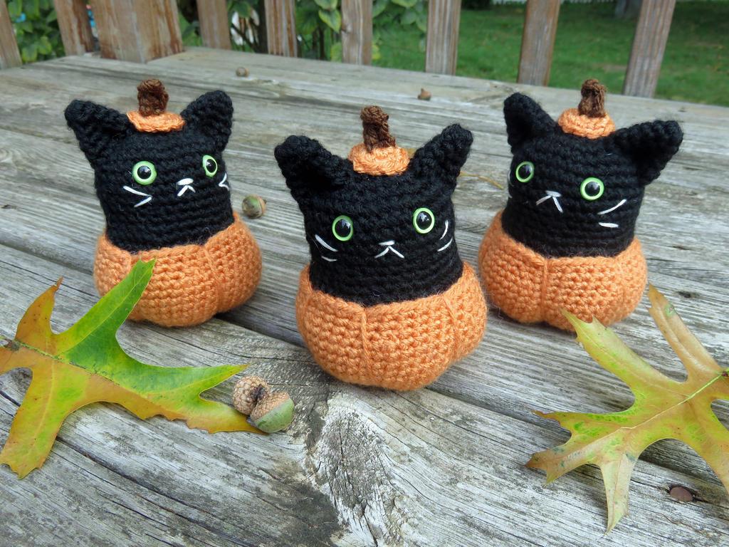 Halloween Pumpkin Amigurumi : Pumpkin Kitty Amigurumi by MilesofCrochet on DeviantArt