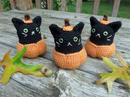 Pumpkin Kitty Amigurumi by MilesofCrochet