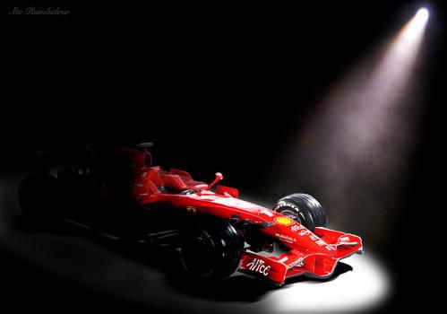 Spotlighted Ferrari F2008