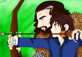 Thorin and Kili by TiaAnthy