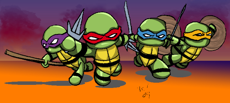 Tiny Ninja Turtles by TheNormal1