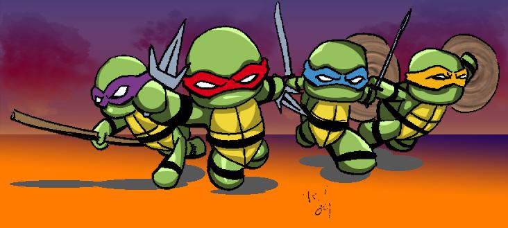 Tiny Ninja Turtles by TheNormal1