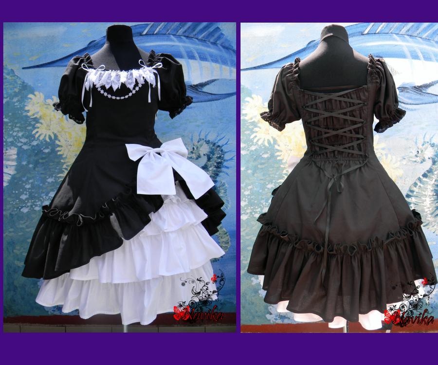 Black white dress by Navika