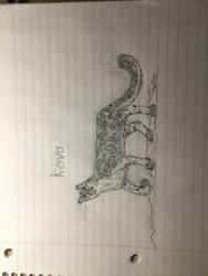 Kovo the snow leopard