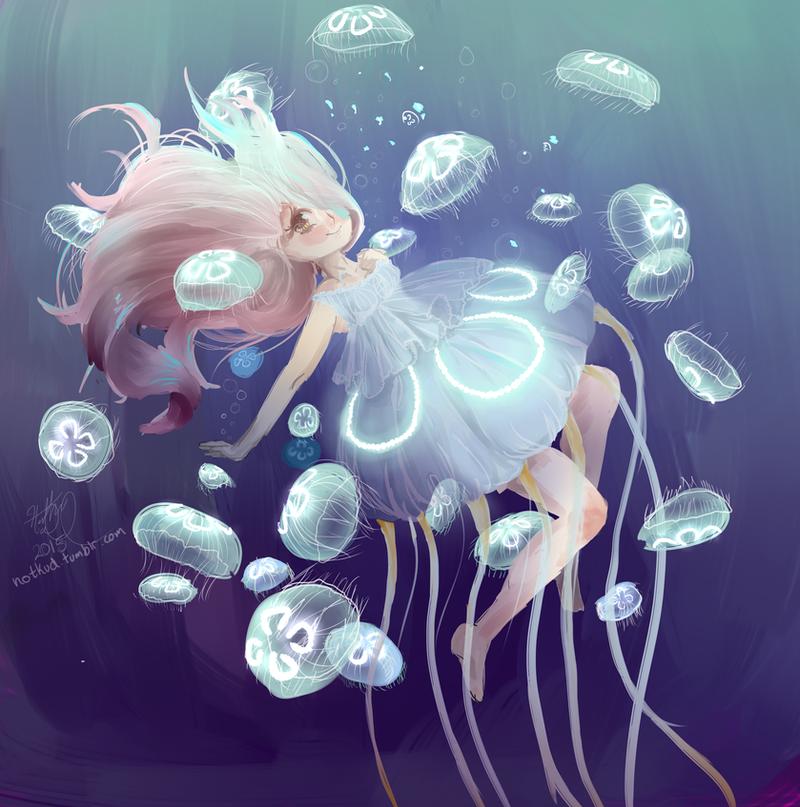 Moon Jellyfish by KudTheUntitled on DeviantArt