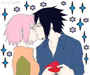 Sasuke x Sakura by womanTENSAIinathens