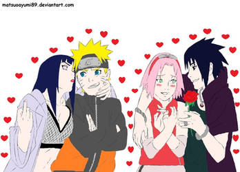 NaruHina/SasuSaku by womanTENSAIinathens