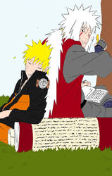 Naruto and Jiraiya by womanTENSAIinathens