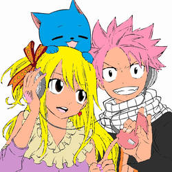 NaLu and Happy by womanTENSAIinathens