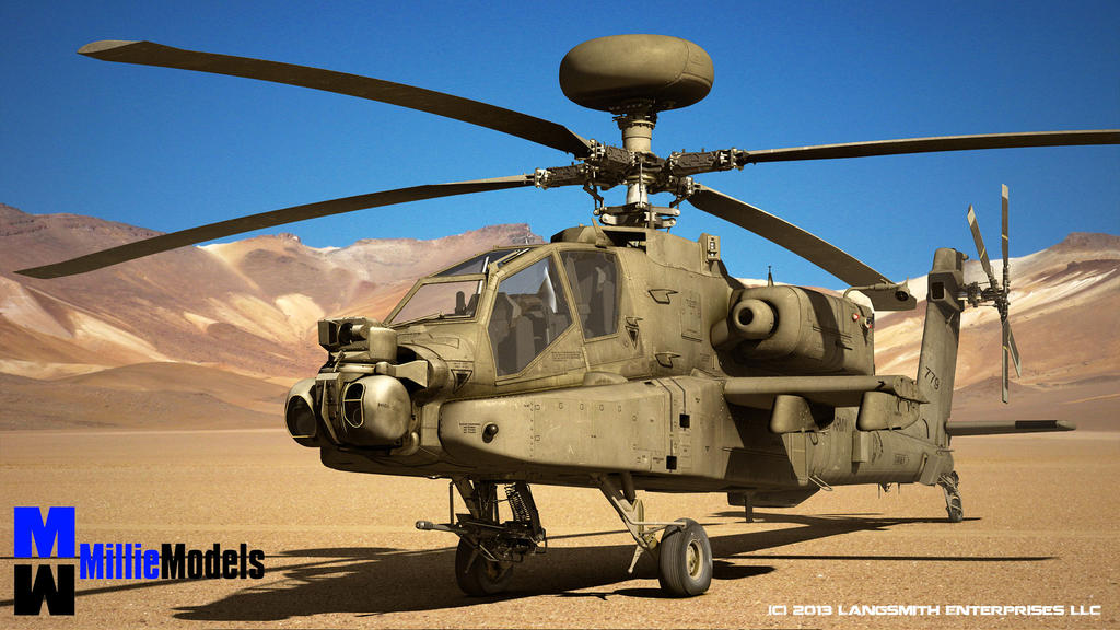 Apache Helicopter by MillieModels