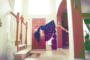 Levitation Self Portrait by PsyckoCinderella