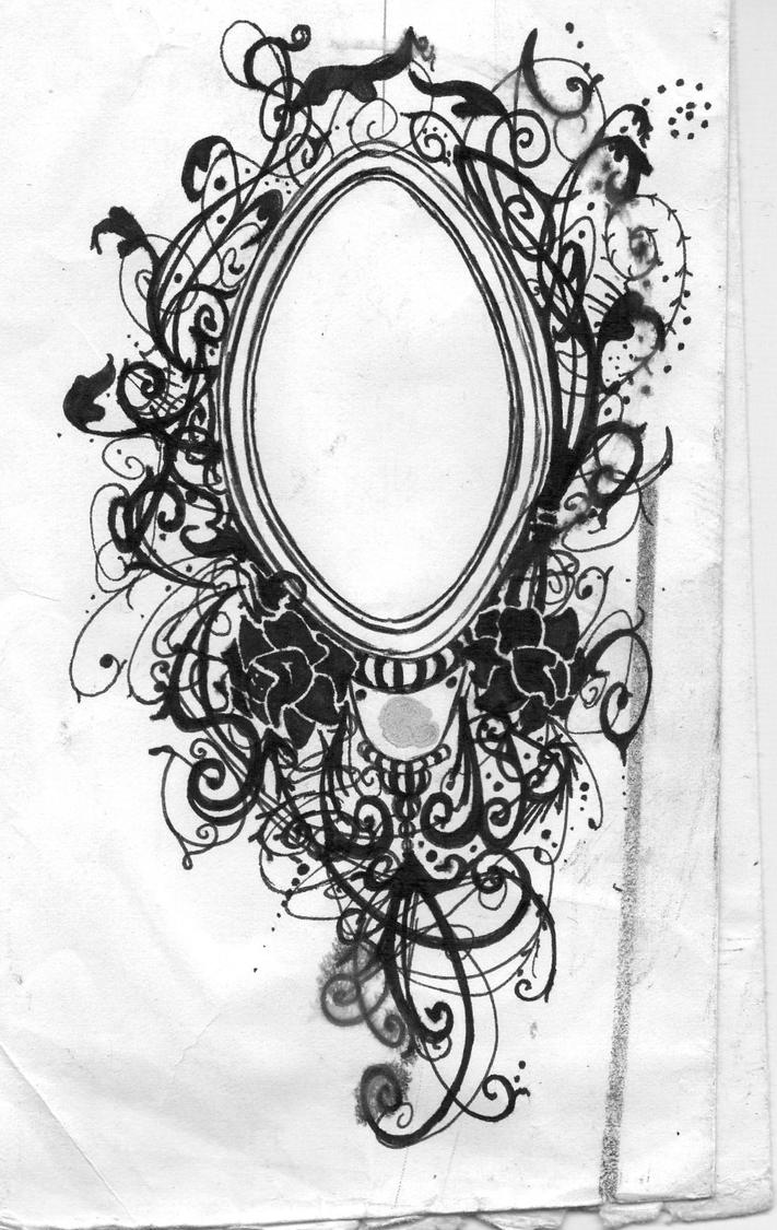 top vintage hand mirror drawing images for pinterest tattoos. Black Bedroom Furniture Sets. Home Design Ideas