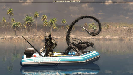 Fishing buddies by Lynxander