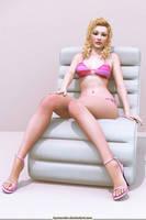 Pink bikini by Lynxander