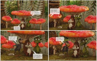 Under the Mushroom by Lynxander