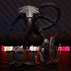 Alien family by Lynxander