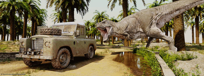 T-Rex and Jeep