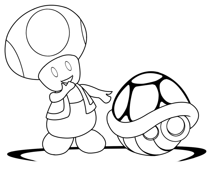 toad coloring pages mario - photo#25