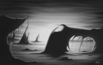 Black and White Study by XxFallenNightxX