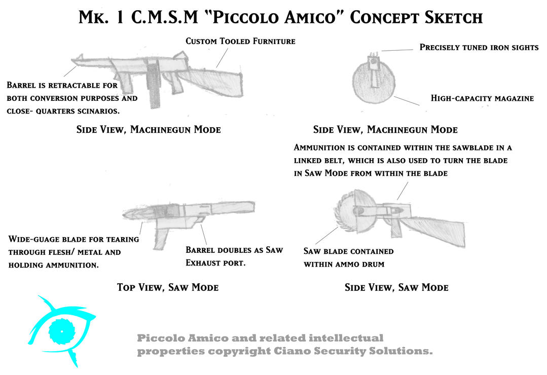 piccolo amico weapon schematic by gumby1011 on deviantart rh gumby1011 deviantart com French Horn Schematic French Horn Schematic