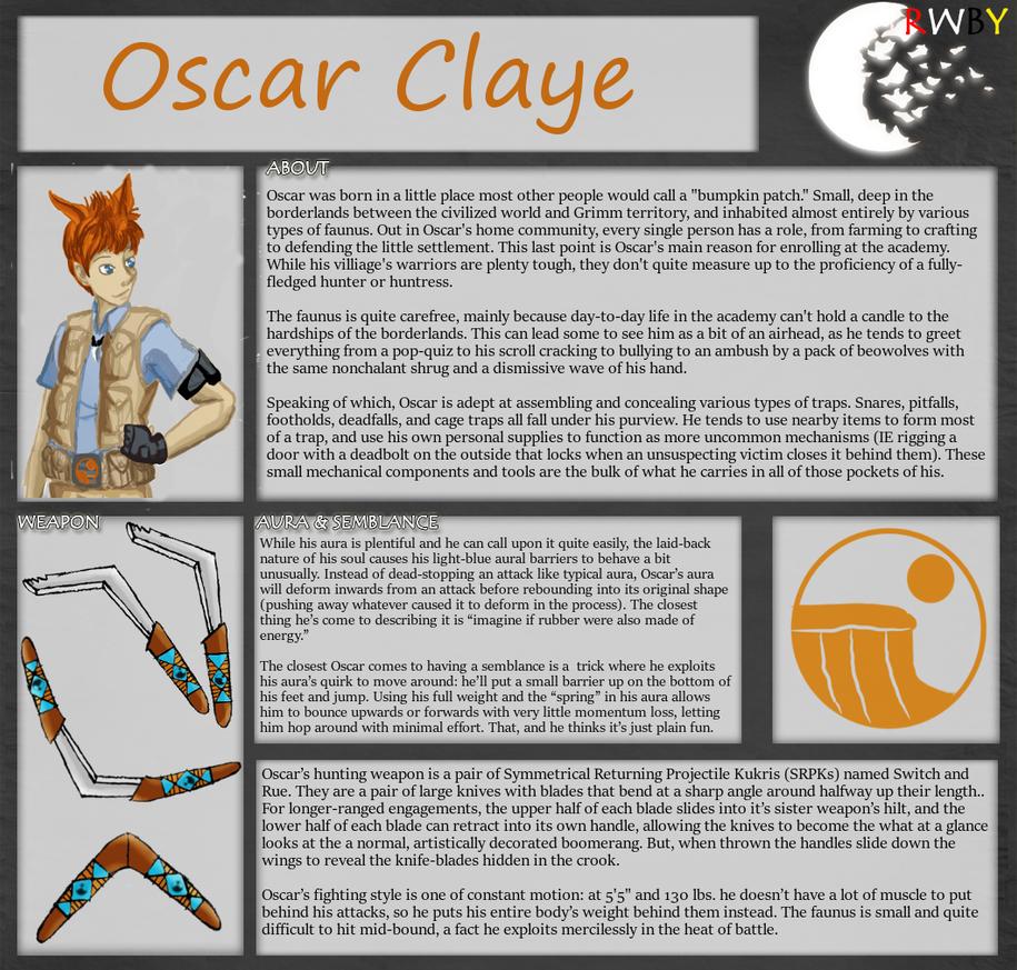 RWBY OC Bio Template: Oscar Claye V2.0 by Gumby1011 on DeviantArt