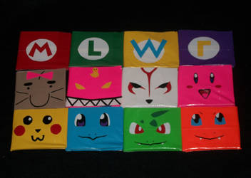 Duct tape Wallets Group 1 by PracticallyGeeky