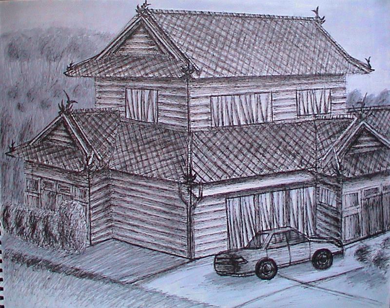 Line Art House : Japanese house by chikaraheart on deviantart