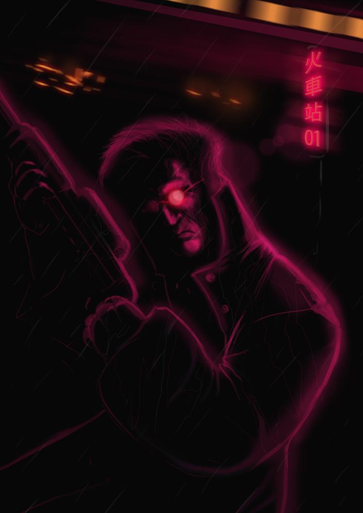 Cyberpunk detective by darknez