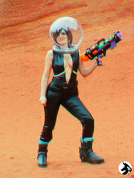 Space Girl 1 3D Anaglyph by NetSeawolf