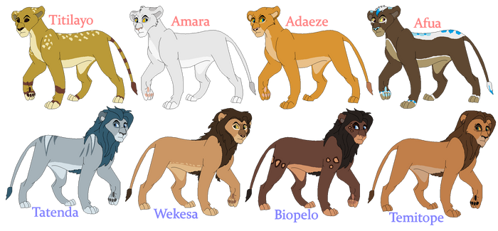 Lion King Breeding Set no. 5 - CLOSED -