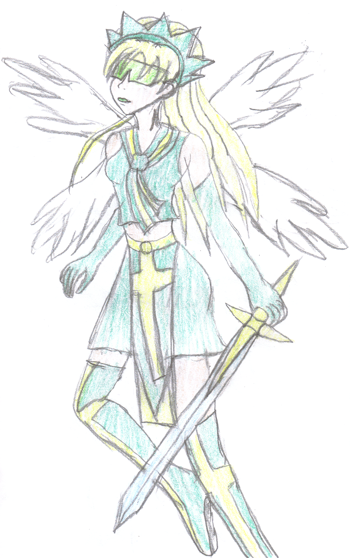 Angel Warrior Full Body by lady-warrior