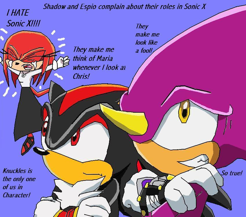 Sonic X Shadow and Espio