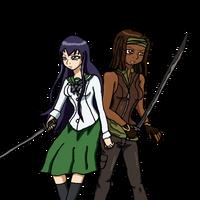 Saeko and Michonne