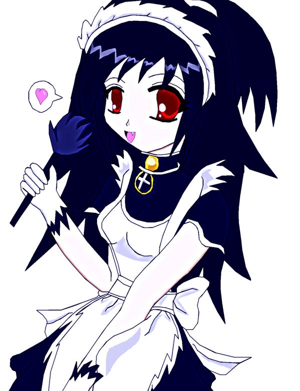 Cute gothic french maid by lady-warrior