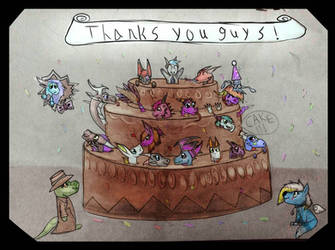 Thank you guys, have cake!!! by Hal0BAR