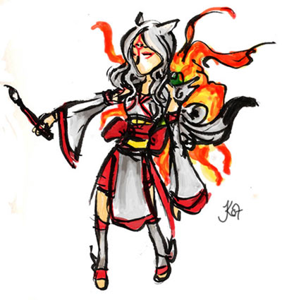 Okami: Amaterasu Human Form by Jassikorandoms on DeviantArt